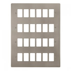 Click Define S/Steel 24 Gang Grid Pro Front Plate FPSS20524