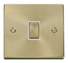 Click Deco Satin Brass 20A Double Pole Switch VPSB722WH