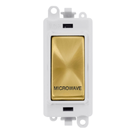 Click Grid Pro GM2018PWSB-MW DP Mod White Satin Brass Microwave