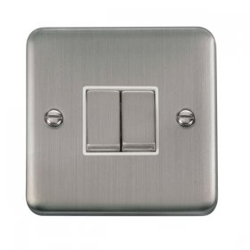Click Deco Plus 2 Gang 2 Way Ingot Switch DPSS412WH