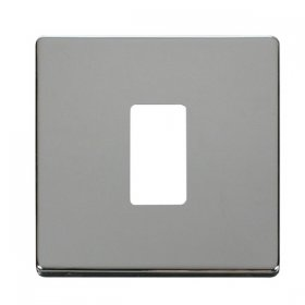 Click Definity Pol/Chrome 1 Gang Grid Pro Front Plate SCP20401CH