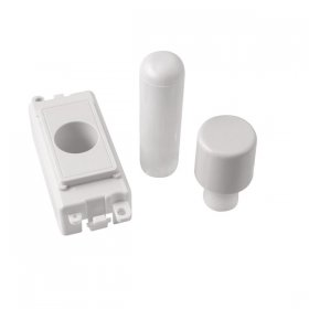 Click Grid Pro GM050PW 1 Module Dimmer Mounting Kit White