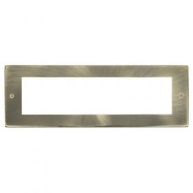 Click New Media Antique Brass 8 Module Front Plate MP608AB