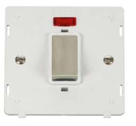 Click Definity 45A DP Switch With Neon Insert SIN501PWSS