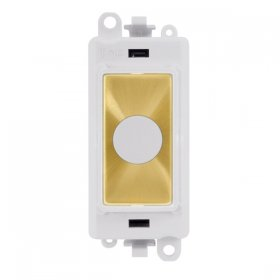 Click Grid Pro GM2017PWSB 20A Flex Outlet Module White Sat/Brass
