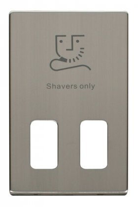 Click Definity Dual Voltage Shaver Socket Cover Plate SCP100SS