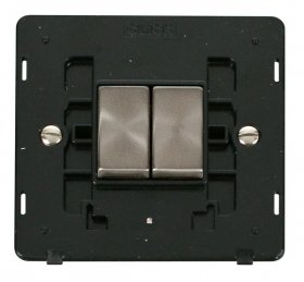 Click Definity 2 Gang 2 Way Switch Insert SIN412BKBS