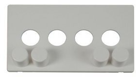 Click Definity 4 Gang Dimmer Switch Cover Plate & Knobs SCP244PW