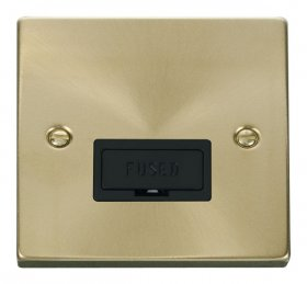 Click Deco Satin Brass Unswitched Fused Spur VPSB650BK