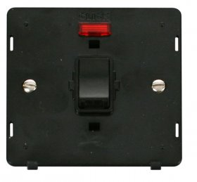 Click Definity 20A Double Pole Switch with Neon Insert SIN623BK