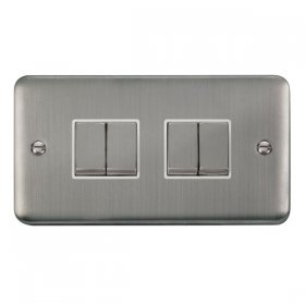 Click Deco Plus 4 Gang 2 Way Ingot Switch DPSS414WH