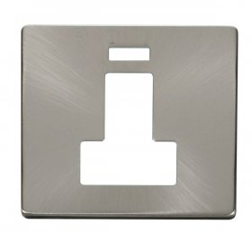 Click Definity 13A Switched Fused Spur Neon Cover Plate SCP252BS