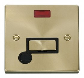 Click Deco Satin Brass Unswitched Fused Spur Neon F/O VPSB553BK