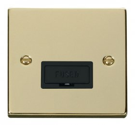 Click Deco Polished Brass Unswitched Fused Spur VPBR650BK