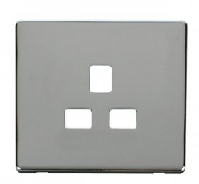 Click Definity 13A 1 Gang Socket Outlet Cover Plate SCP430CH