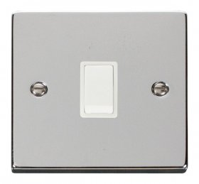Click Deco Polished Chrome 20A Double Pole Switch VPCH622WH