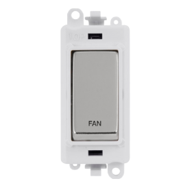 Click Grid Pro GM2018PWCH-FN DP Module White Polished Chrome Fan