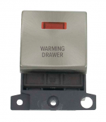 Click MiniGrid MD023BSWDR B/Steel DP Warming Drawer Module Neon