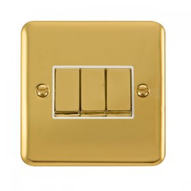 Click Deco Plus 3 Gang 2 Way Ingot Switch DPBR413WH