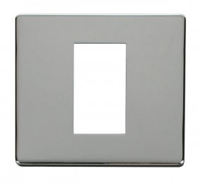 Click Definity Single Media Plate 1G Cover Plate SCP310CH