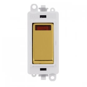 Click Grid Pro GM2018NPW Double Pole cw Neon Switch Module White
