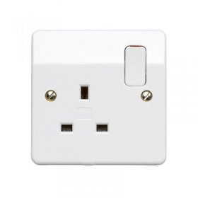 MK Logic Plus K2757WHI 13A 1 Gang DP Switched Socket Outlet