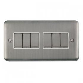 Click Deco Plus 6 Gang 2 Way Ingot Switch DPSS416WH