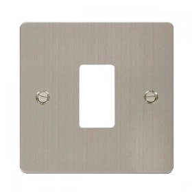 Click Define S/Steel 1 Gang Grid Pro Front Plate FPSS20401
