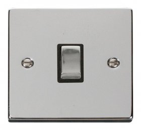 Click Deco Polished Chrome 20A Double Pole Switch VPCH722BK