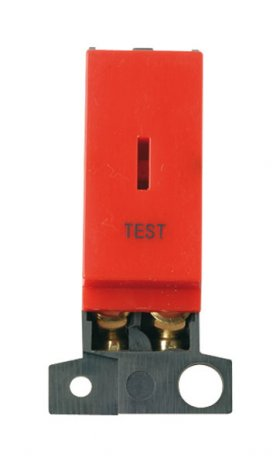 Click MiniGrid MD046RDTT Red Double Pole Test Keyswitch Module