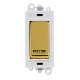 Click Grid Pro GM2018PWBR-FZ DP Mod Wh Pol/Brass Fridge Freezer