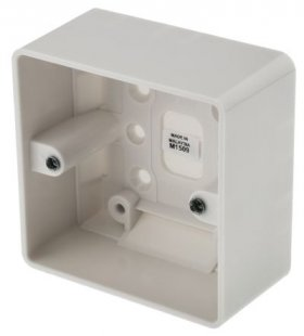 MK Logic Plus K2031WHI 1 Gang 47mm Surface Moulded Box