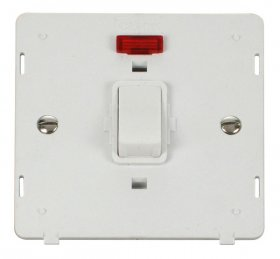 Click Definity 20A Double Pole Switch with Neon Insert SIN623PW