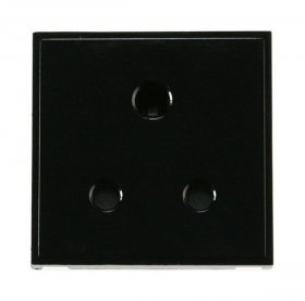 Click New Media MM038BK 5A Round Pin Socket Outlet Black