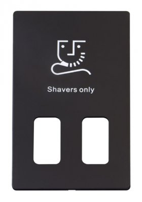 Click Definity Dual Voltage Shaver Socket Cover Plate SCP100BK