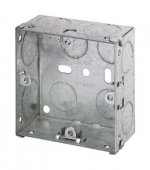 1 Gang 35mm Deep Galvanised Knock Out Box