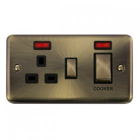 Click Deco Plus 45A DP Switch with 13A Outlet Neon DPAB505BK