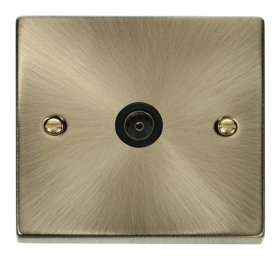 Click Deco Antique Brass Non-Isolated Coaxial Socket VPAB065BK