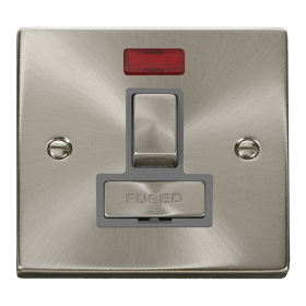 Click Deco Satin Chrome Switched Fused Spur with Neon VPSC752GY