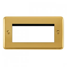 Click Deco Plus Polished Brass New Media Quad Plate DPBR312