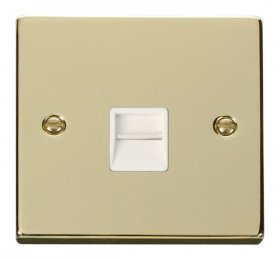 Click Deco Polished Brass Secondary Telephone Point VPBR125WH