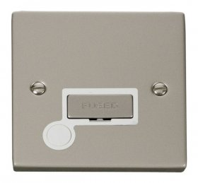 Click Deco Pearl Nickel Unswitched Fused Spur + F/O VPPN550WH