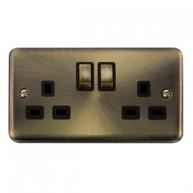 Click Deco Plus 13A Double Switched Socket DPAB536BK