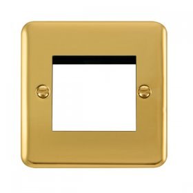 Click Deco Plus Polished Brass New Media Twin Plate DPBR311