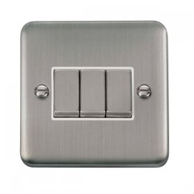 Click Deco Plus 3 Gang 2 Way Ingot Switch DPSS413WH