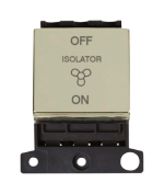 Click MiniGrid MD020BR Pol/Brass 3 Pole Fan Isolator Switch Mod