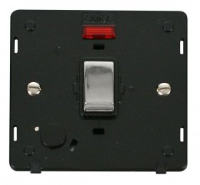 Click Definity 20A DP Switch With F/O Neon Insert SIN523BKCH