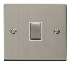 Click Deco Stainless Steel Ingot 20A DP Switch VPSS722WH