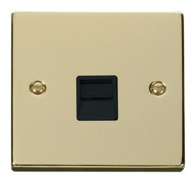 Click Deco Polished Brass Secondary Telephone Point VPBR125BK
