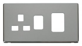 Click Definity 45A Cooker Sw with 13A Skt Cover Plate SCP204CH